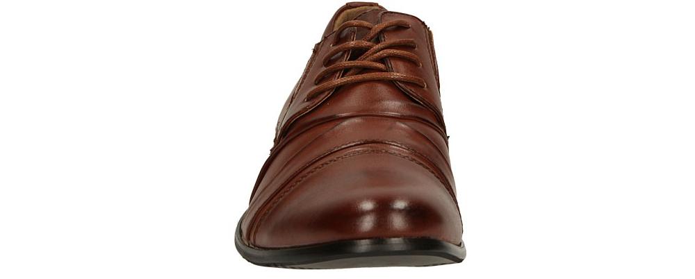 Brązowe buty wizytowe sznurowane Casu 1112-3 sezon Całoroczny