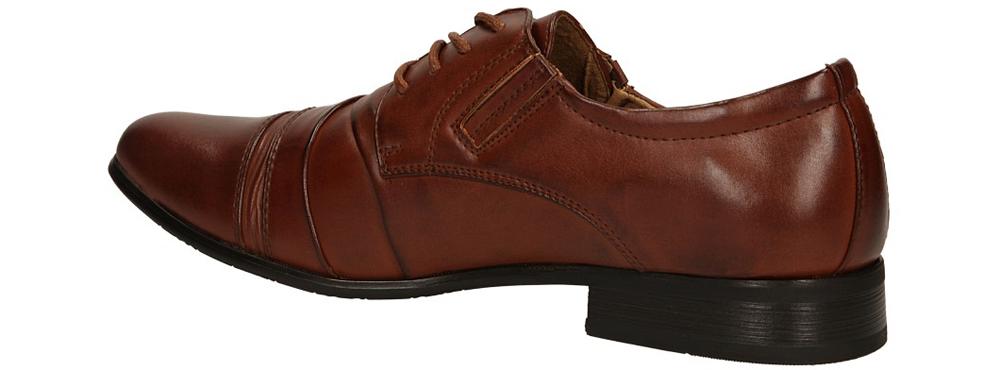 Brązowe buty wizytowe sznurowane Casu 1112-3 kolor brązowy