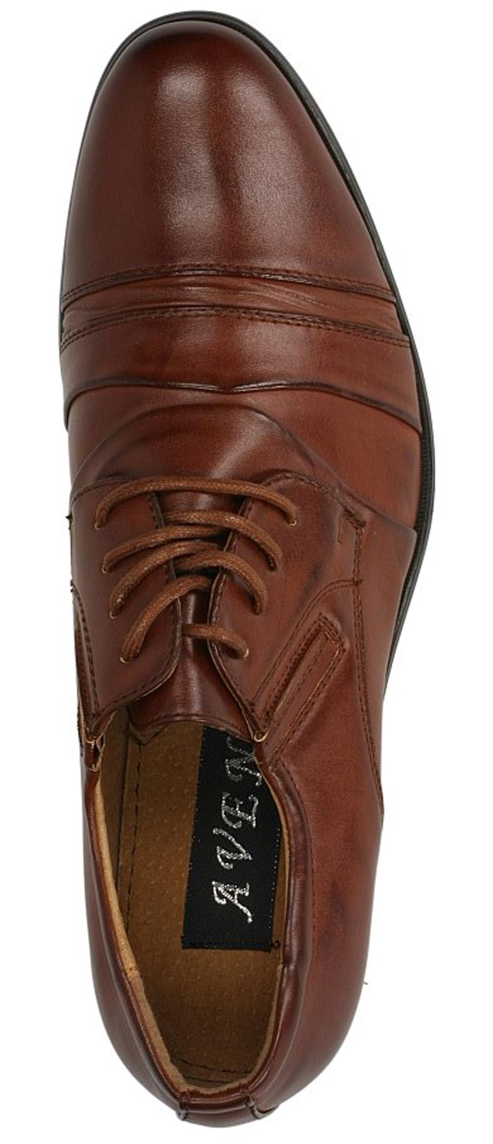 Brązowe buty wizytowe sznurowane Casu 1112-3 wysokosc_obcasa 3 cm