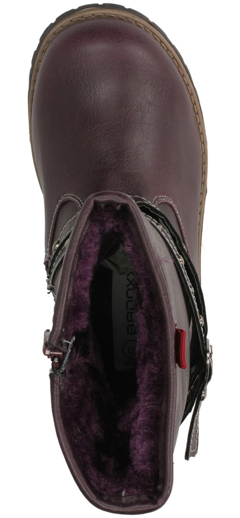 BOTKI 3XC6442-W kolor ciemny fioletowy
