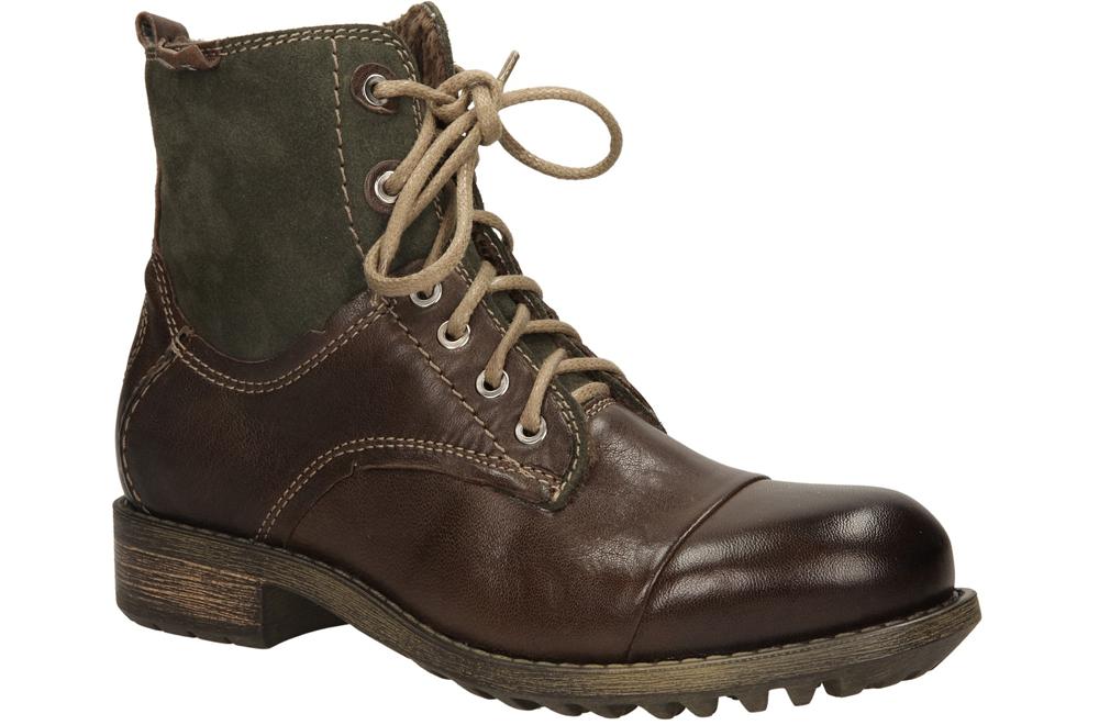 Damskie BOTKI BUT S T642-M17-2P0 brązowy;zielony;
