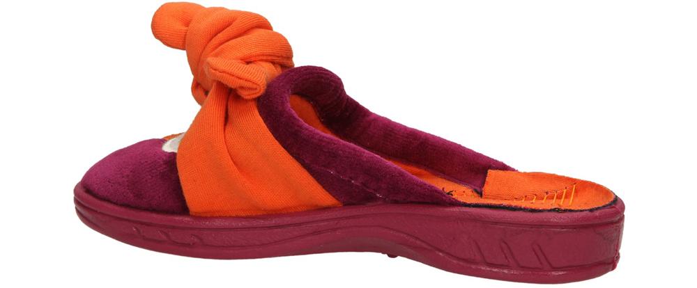 OBUWIE DOMOWE BEFADO 707Y334 kolor ciemny różowy, pomarańczowy