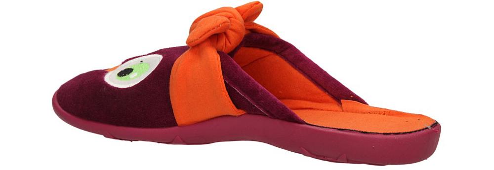 Damskie OBUWIE DOMOWE BEFADO 235Q67 fioletowy;pomarańczowy;