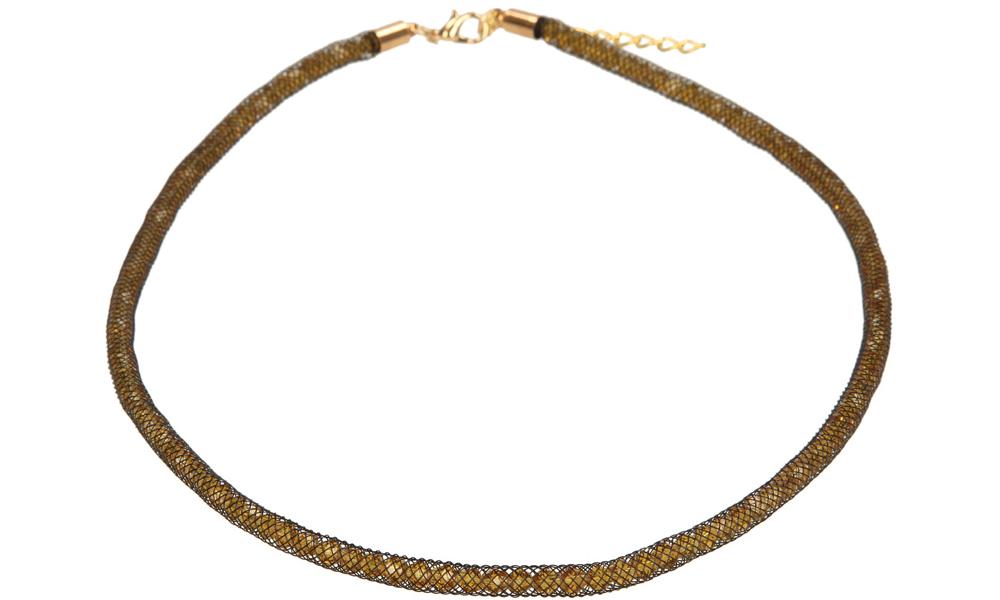 Damskie NASZYJNIK 4Y02-42 żółty;złoty;