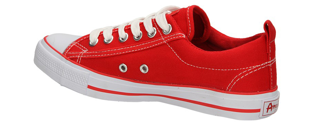 TRAMPKI AMERICAN LH-15-DSLN01-2 kolor biały, czerwony