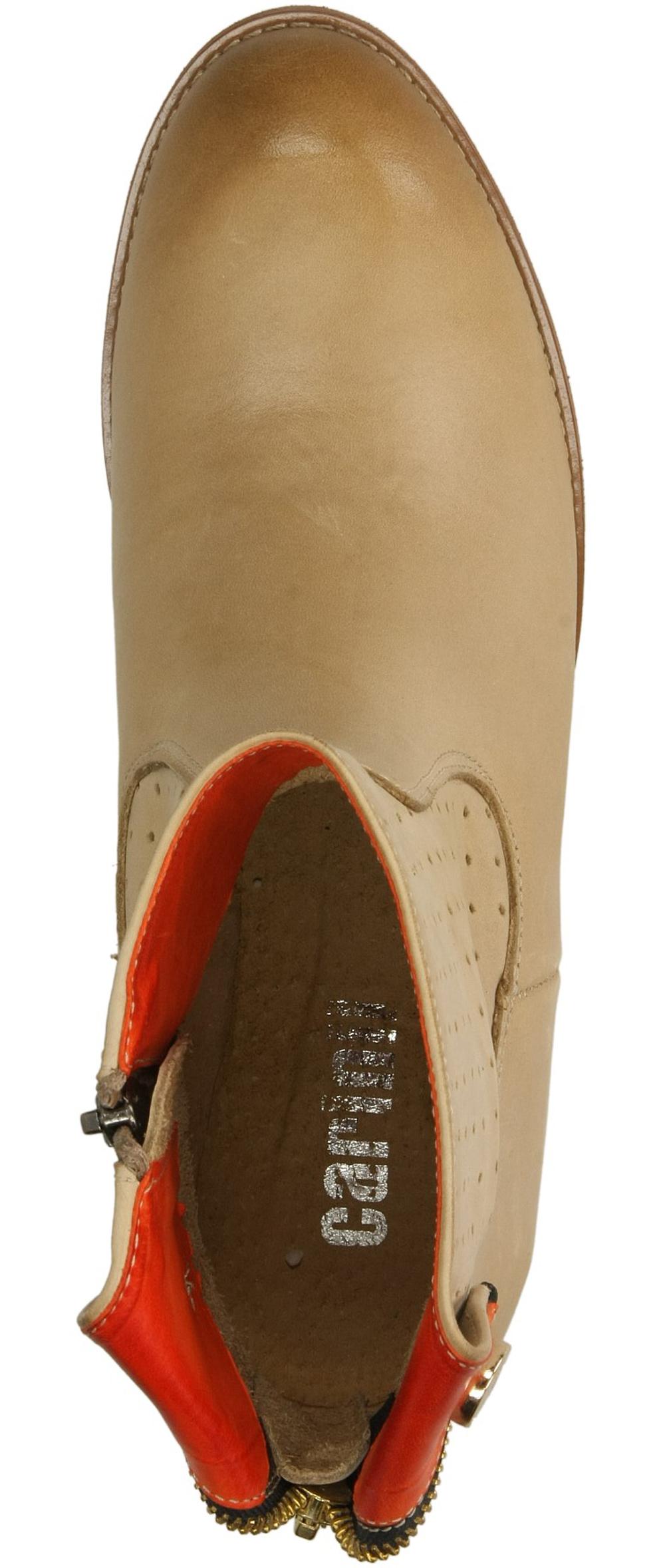 BOTKI CARINII B2145-626-7 kolor beżowy