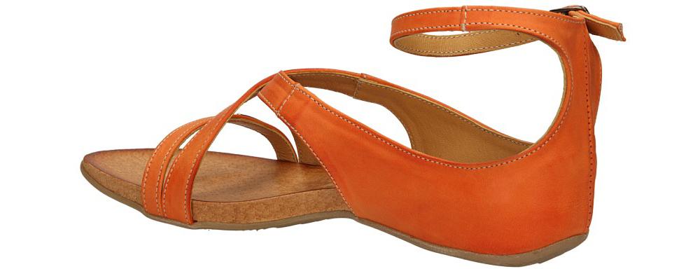 SANDAŁY CARINII B1965-840 kolor pomarańczowy