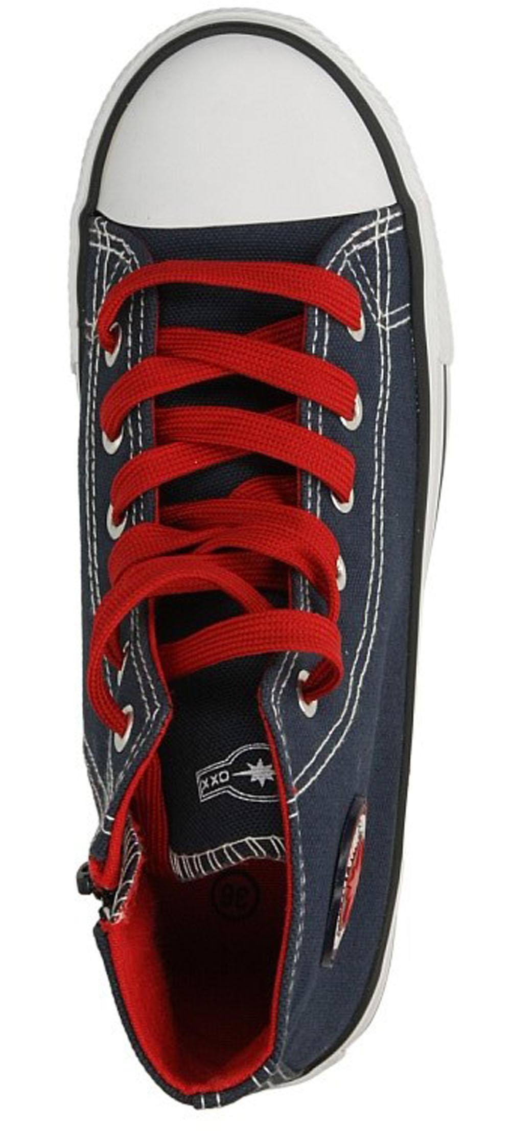 Dziecięce TRAMPKI 5XC6264-B niebieski;czerwony;