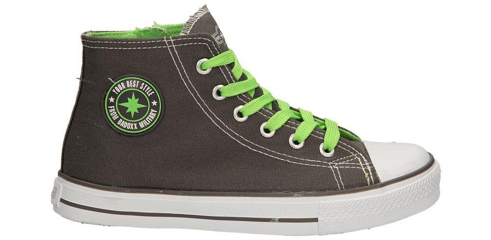 Dziecięce TRAMPKI 5XC6264-B szary;zielony;
