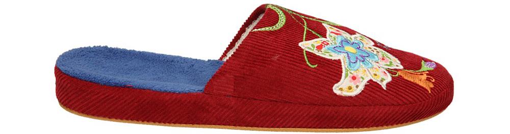 Damskie OBUWIE CASU DOMOWE Y203-4 czerwony;;