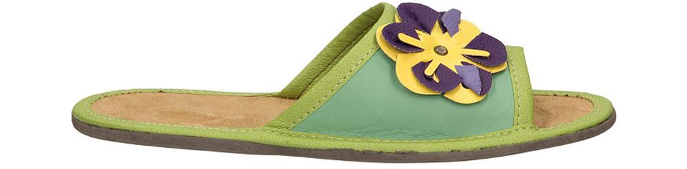 Dziecięce OBUWIE DOMOWE WZ52 zielony;żółty;fioletowy