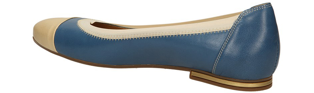 BALERINY BUT S U092-R84-0 kolor beżowy, niebieski