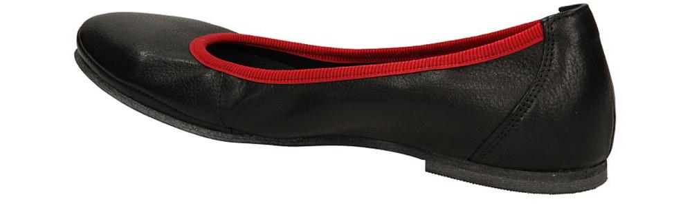 Damskie BALERINY LEMAR 185/T czarny;czerwony;