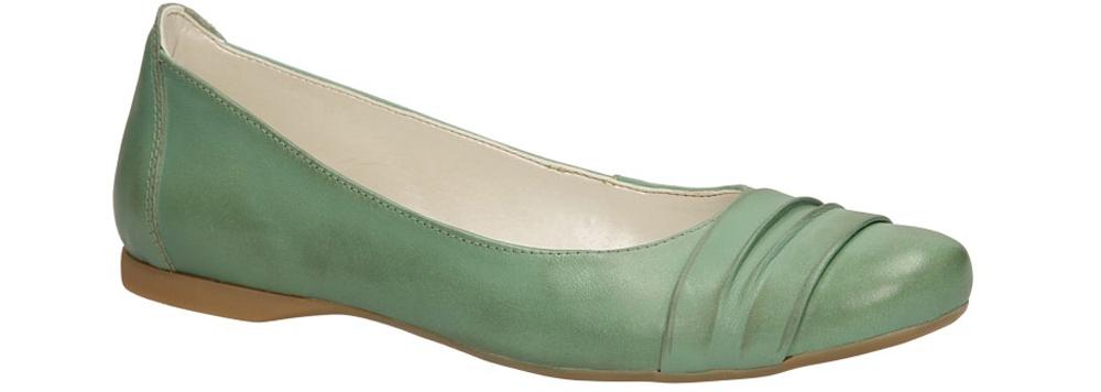 Damskie BALERINY CASU 139 zielony;;