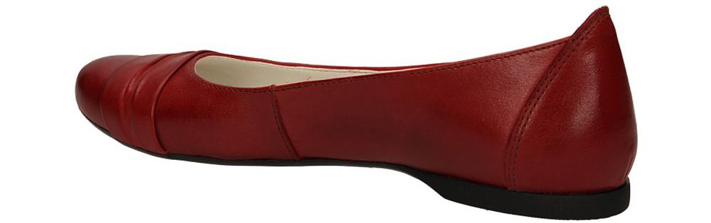 BALERINY CASU 139 kolor czerwony
