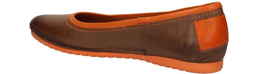 Damskie BALERINY SIMEN 6681 brązowy;pomarańczowy;