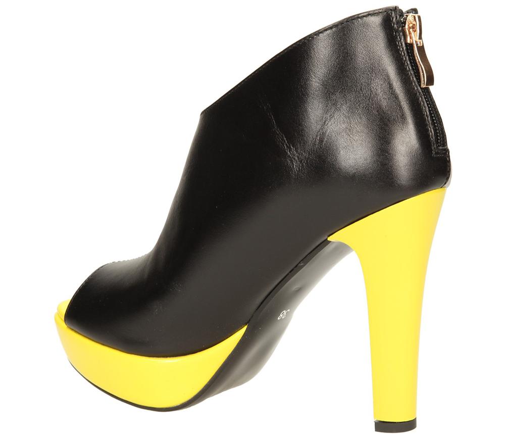 PÓŁBUTY R.POLAŃSKI 717 kolor czarny, żółty