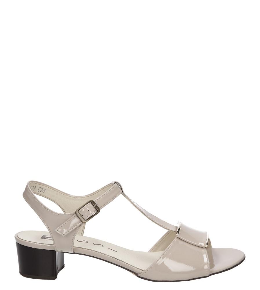 Sandały skórzane na słupku Nessi 43203 model 43203