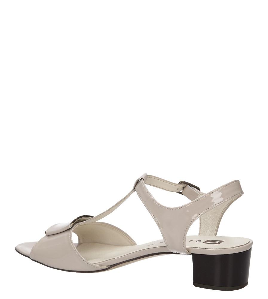 Sandały skórzane na słupku Nessi 43203 kolor beżowy