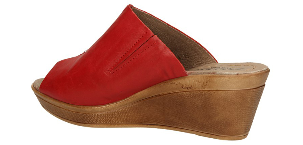 Damskie KLAPKI CARINII B2049-A05-000 czerwony;;
