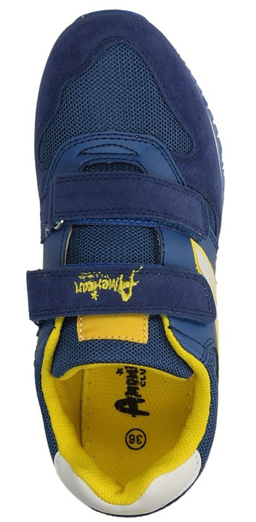 Dziecięce SPORTOWE AMERICAN E111127 niebieski;żółty;