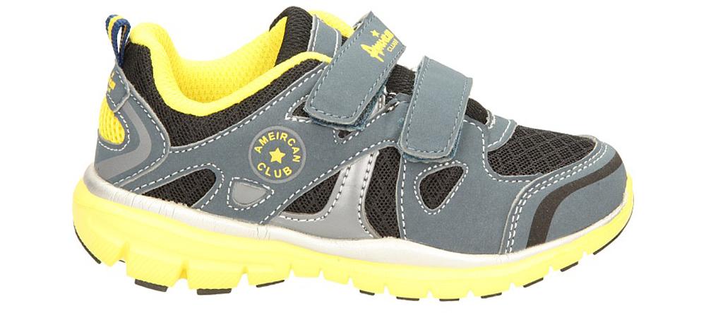 Dziecięce SPORTOWE AMERICAN K1317 szary;żółty;