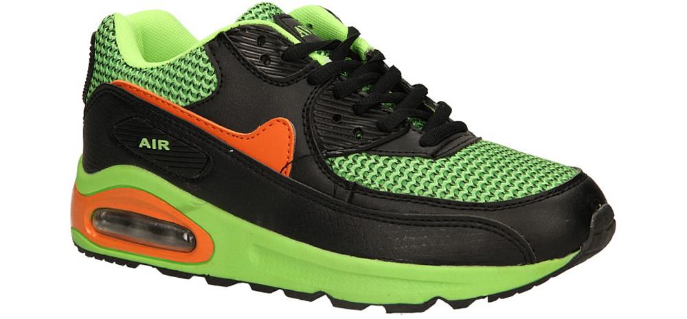 Damskie SPORTOWE CASU B38-4 czarny;zielony;pomarańczowy