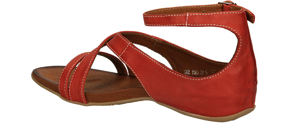 Damskie SANDAŁY CARINII B1965-125 czerwony;;