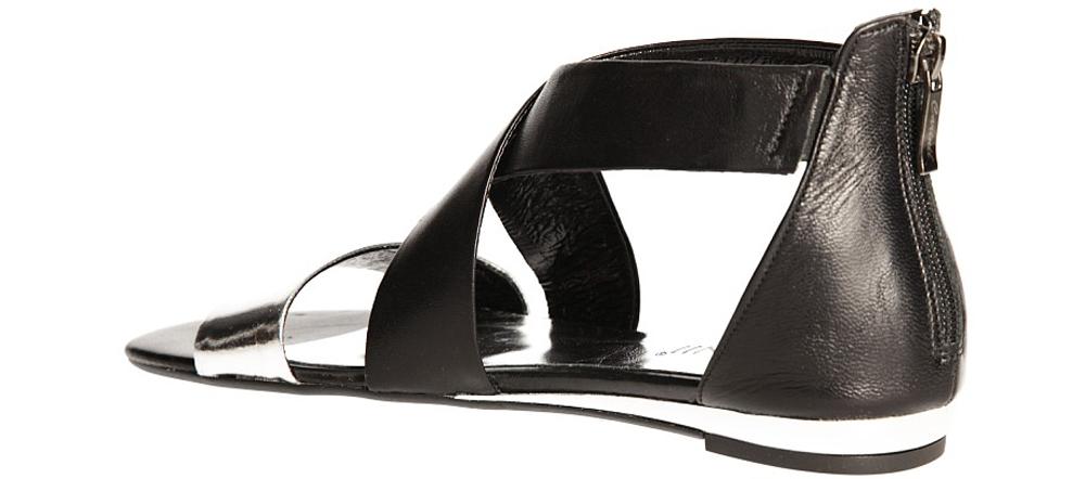 SANDAŁY CARINII B2197-980 kolor czarny, srebrny