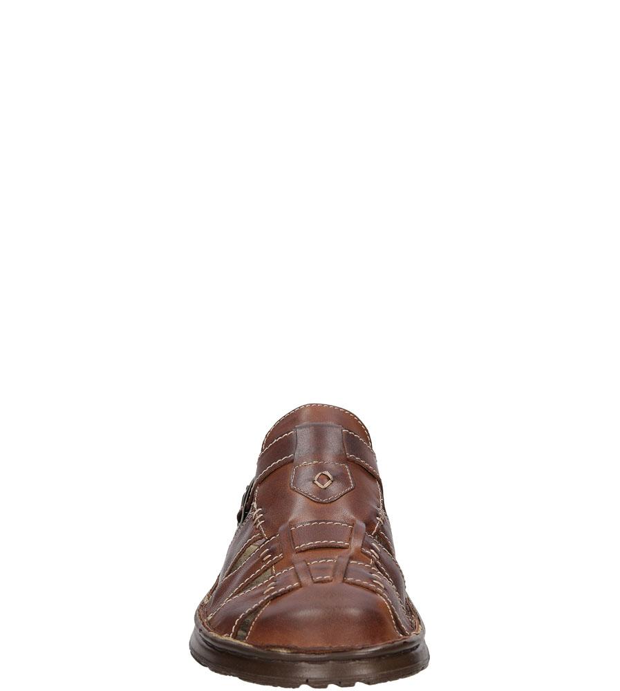 Klapki Łukbut 09620 kolor brązowy