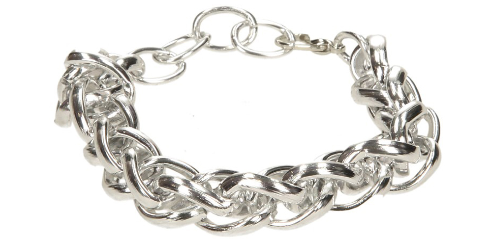 Damskie BRANSOLETA 8AA37-38 srebrny;;