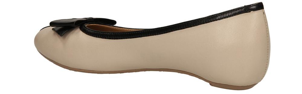 BALERINY LAURA MESSI 891 kolor ciemny brązowy, jasny beżowy