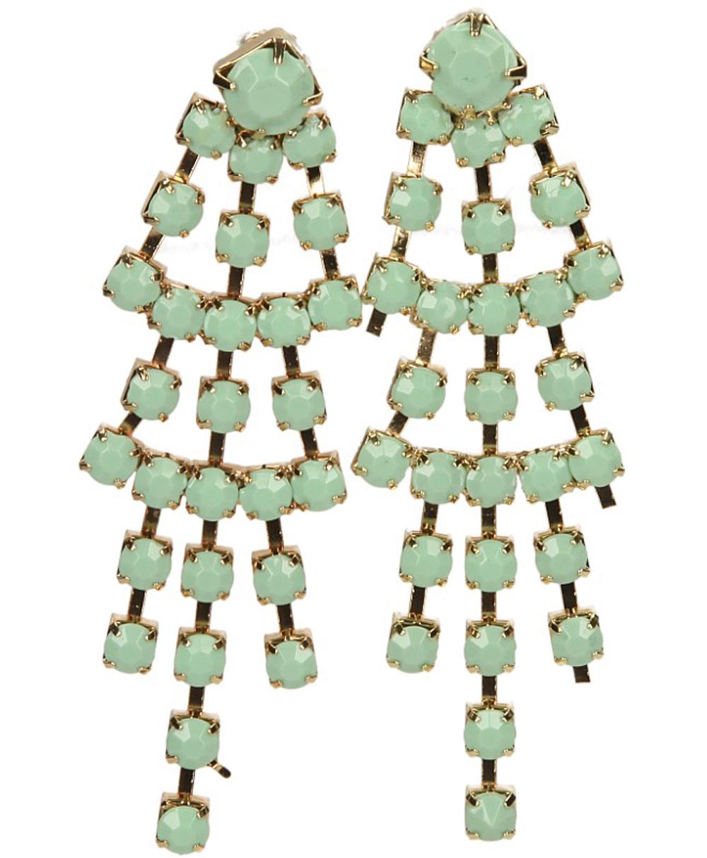 Damskie KOLCZYKI 219-10 złoty;zielony;