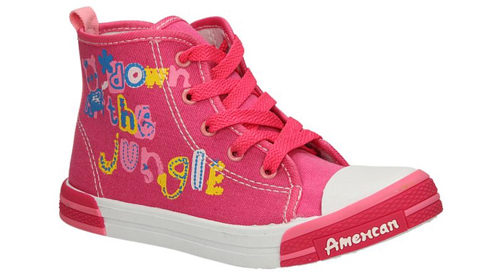 Dziecięce TRAMPKI AMERICAN TEN14/2014 różowy;;
