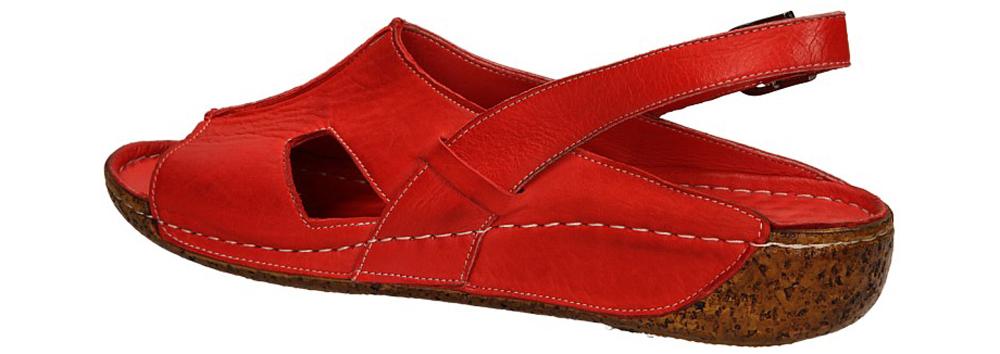 SANDAŁY LANQIER 34C389 kolor czerwony