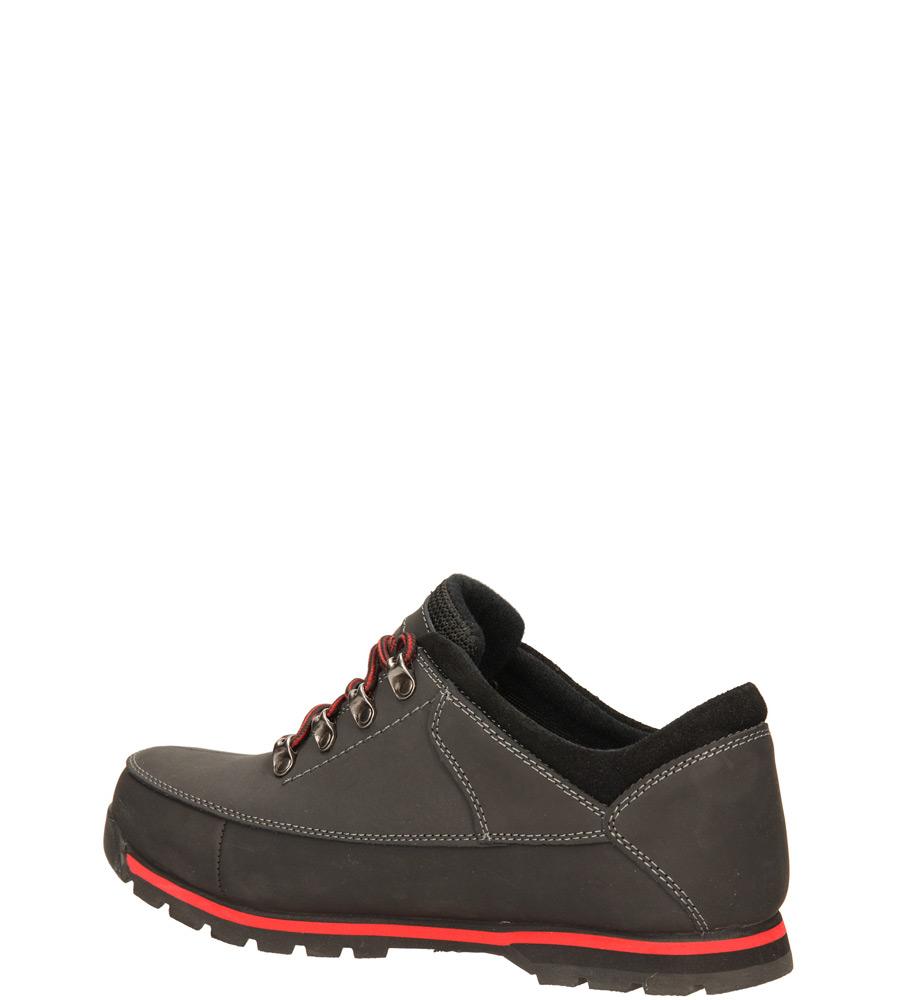 Męskie PÓŁBUTY CASU MXC6665-L czarny;czerwony;