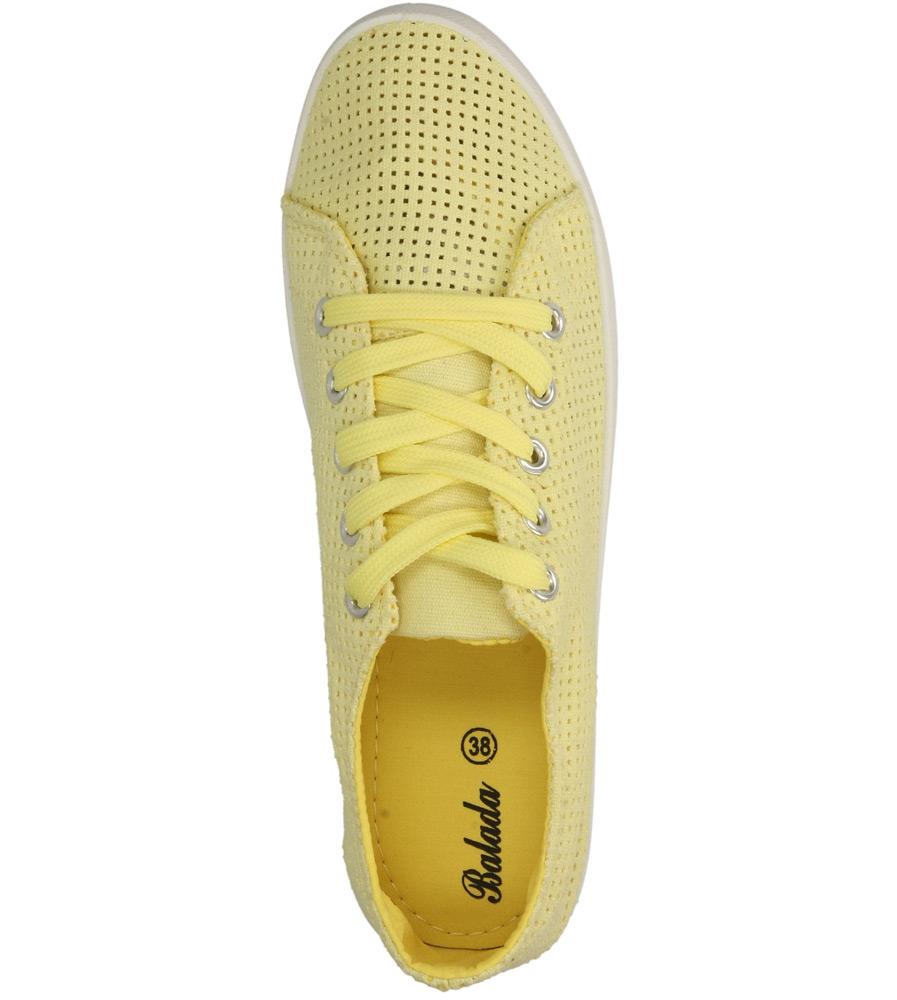TRAMPKI CASU B669-26 kolor żółty