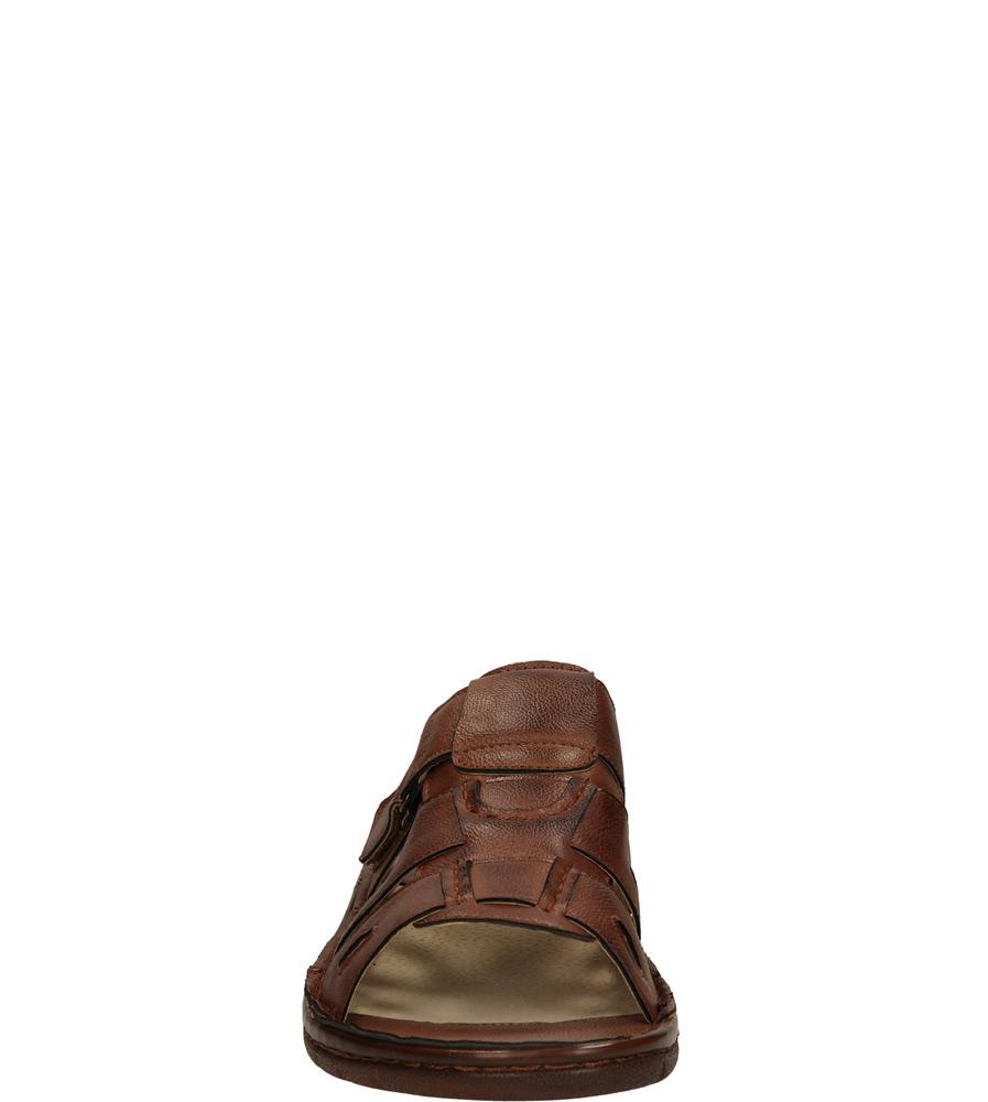 Męskie KLAPKI CASU F065 brązowy;;