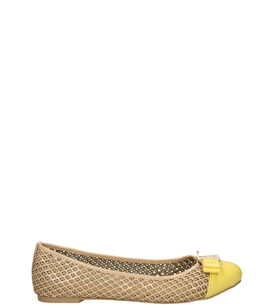 Damskie BALERINY CASU VICES X618 beżowy;żółty;