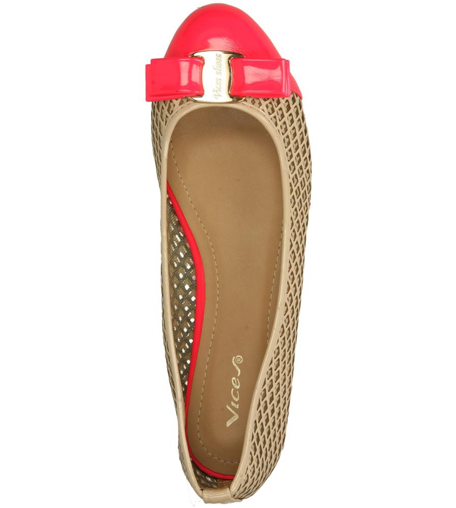 Damskie BALERINY CASU VICES X618 beżowy;różowy;