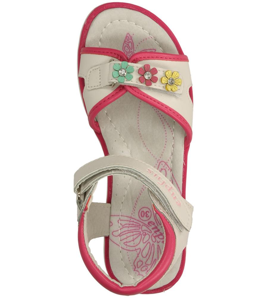 Dziecięce SANDAŁY 3080-10 biały;różowy;