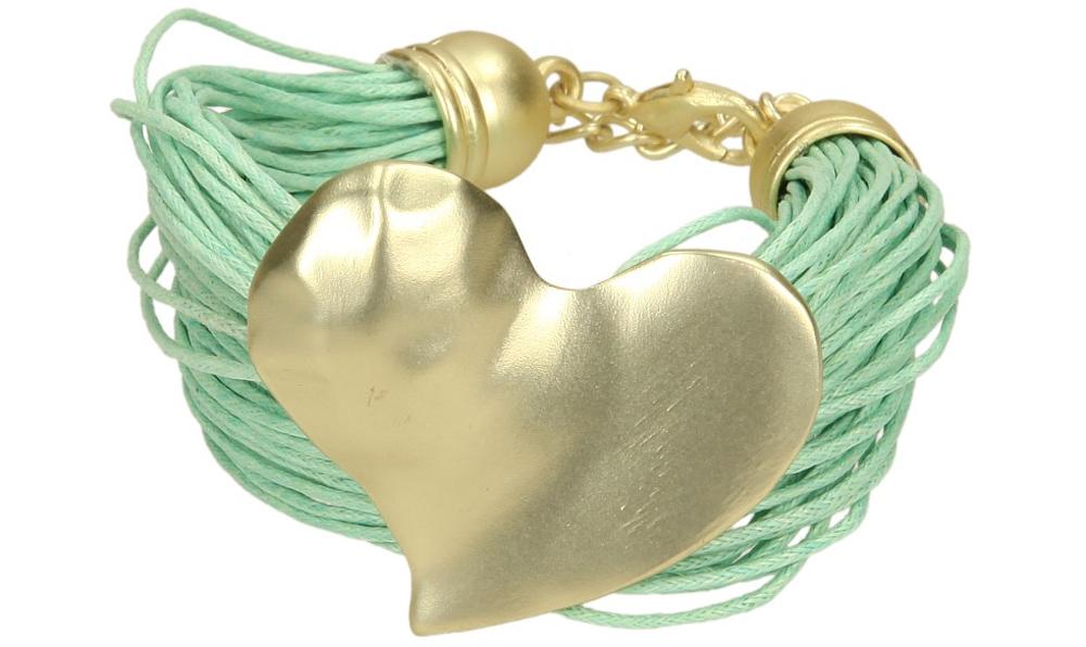 Damskie BRANSOLETA 8CC012-60 zielony;złoty;