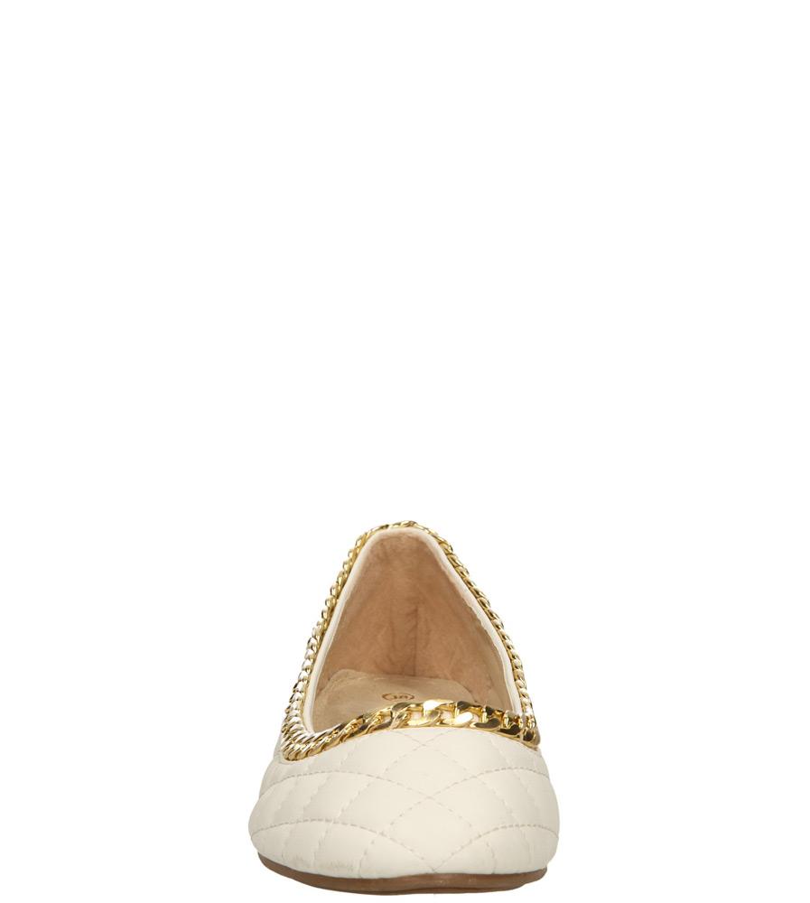 Damskie BALERINY CASU BL97623 biały;;