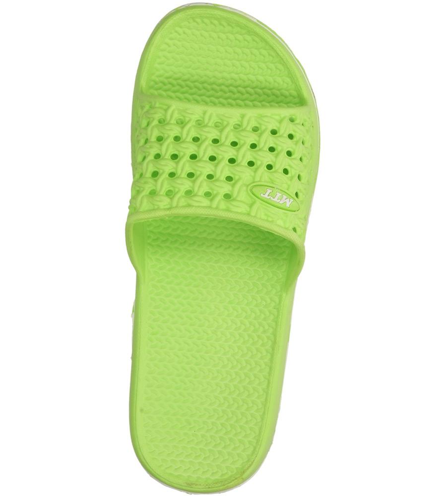 Damskie KLAPKI CASU 13-4024 zielony;;