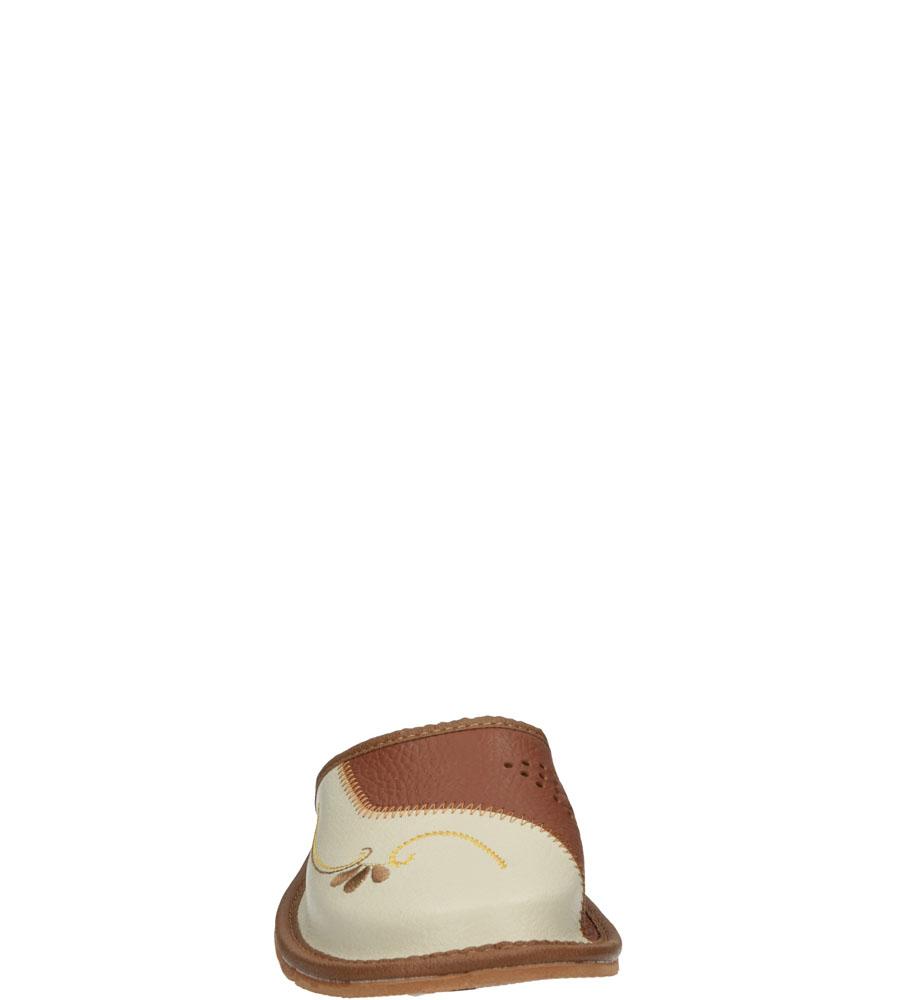 Damskie KAPCIE CASU D-22 beżowy;brązowy;
