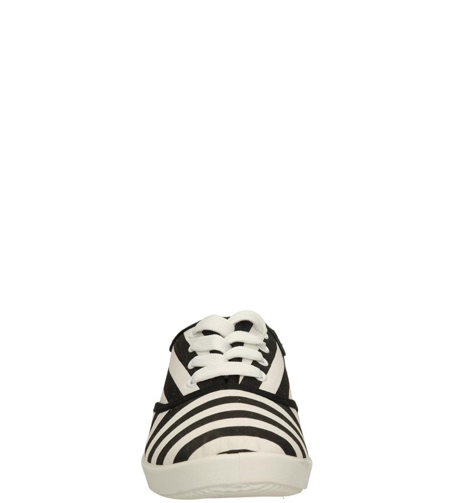 Damskie TENISÓWKI CASU KED-2 czarny;biały;