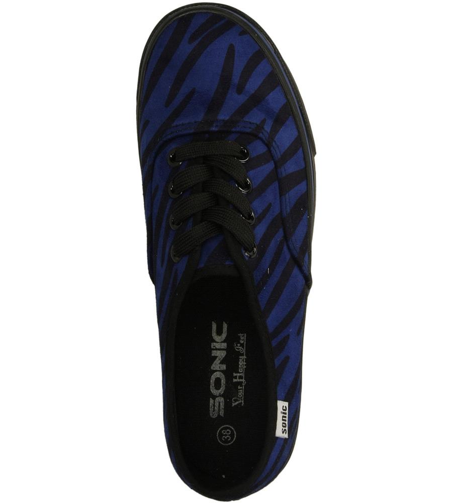 Damskie TRAMPKI CASU 55638 niebieski;czarny;