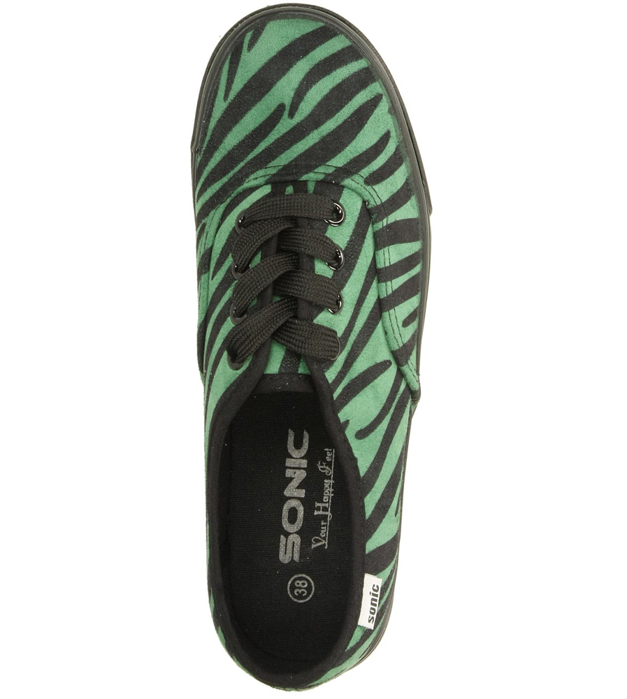 TRAMPKI CASU 55638 kolor czarny, zielony