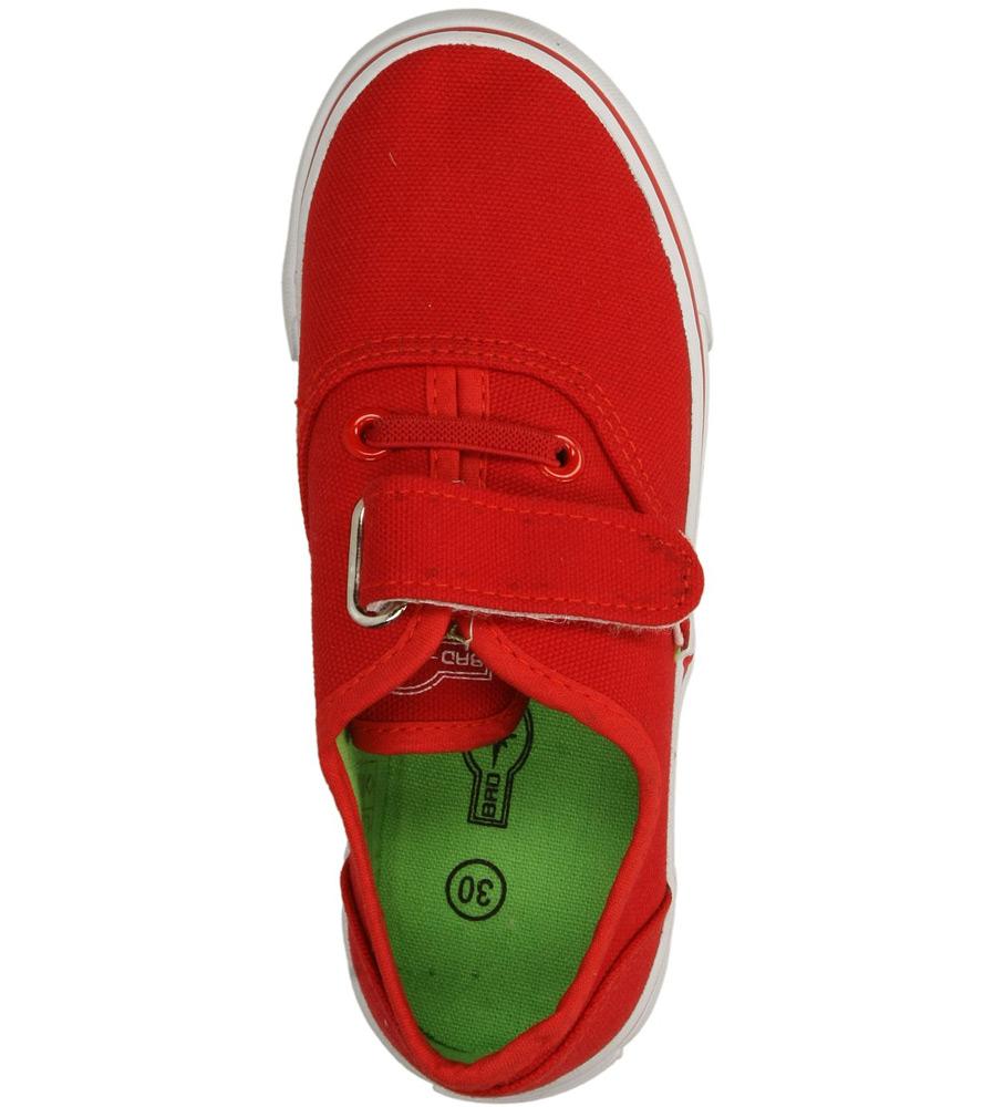Dziecięce TRAMPKI 3XC6557-B czerwony;zielony;