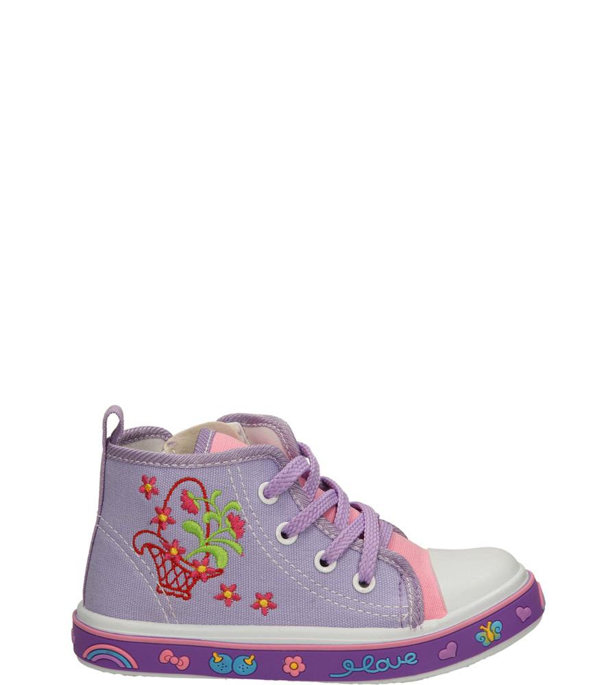 Dziecięce TRAMPKI AMERICAN 13AL025 fioletowy;;